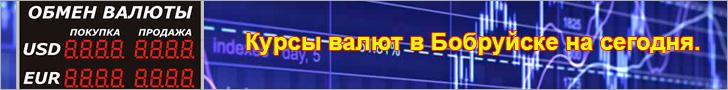 Курсы валют в Бобруйске на сегодня